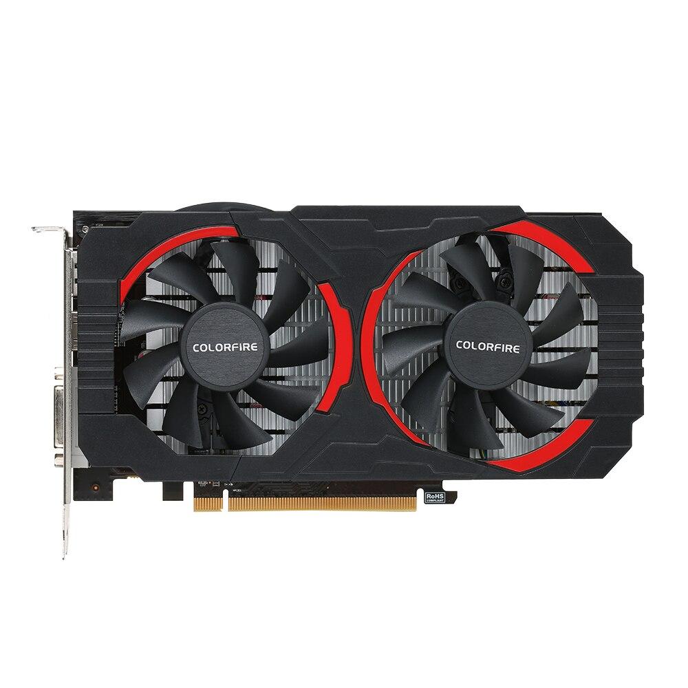 (Бесплатная доставка) colorfire RX 550 ustorm-4gd5 4 ГБ/128bit GDDR5 игровых карт Графика карты DP + HDMI + DVI Порты и разъёмы с 2 охлаждения Вентиляторы