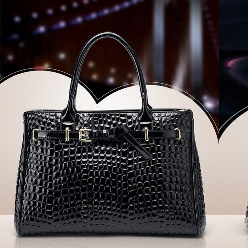ФОТО 2016 European lady crocodile Designer Bags leather women handbag Messenger Bags