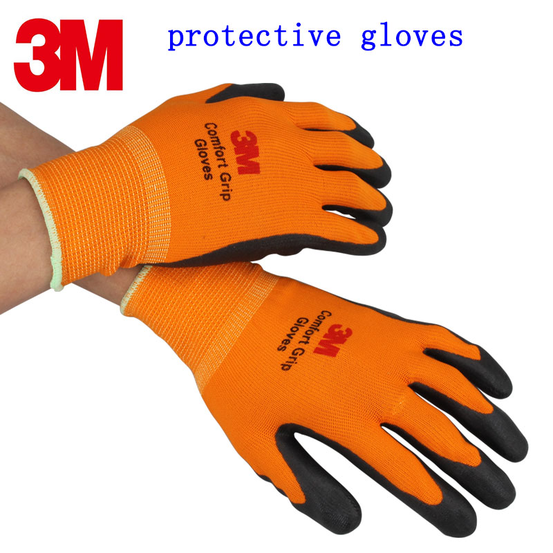 3M protection gloves Breathable Dipping working gloves Wearable Non slip Machine repair Labour protection glove-in Safety Gloves from Security & Protection