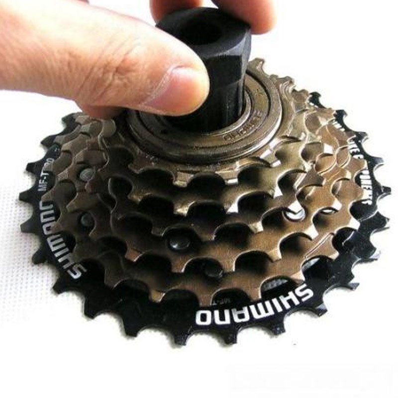Bicycle Freewheel Flywheel Lockring Cassette Remover Removal Cycling Cards Spinner Sockets Repair Service Tool Puller TOL 117 in Bicycle Repair Tools from Sports Entertainment