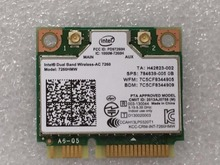 Новый intel dual band wireless-ac7260 7260hmw 7260ac 7260 hmwac половина mini pci-e 867 мбит + bluetooth4.0 беспроводной wi-fi карты