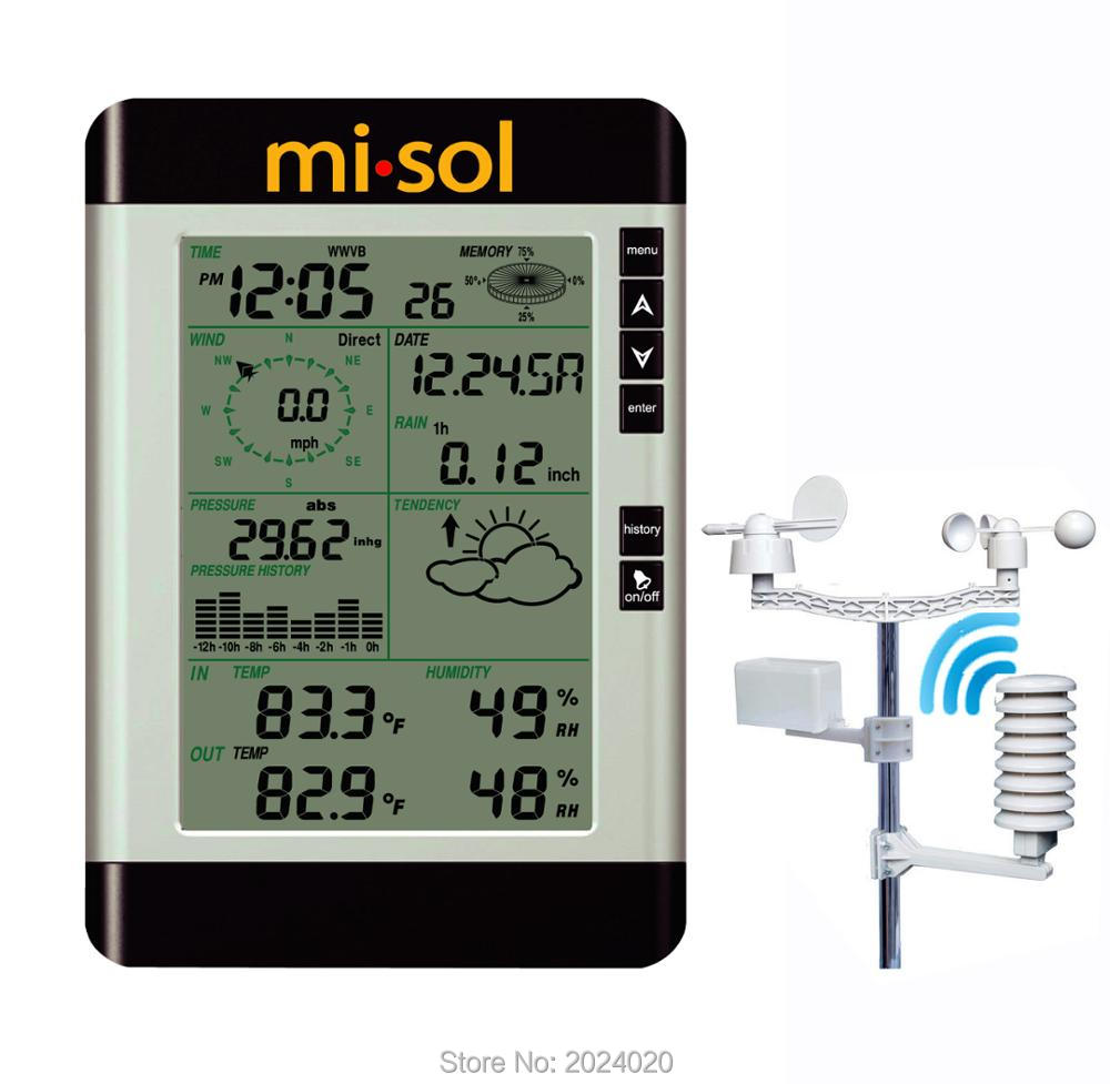 Professional Wireless Weather Station with PC connection weather forecast wind speed rain guage