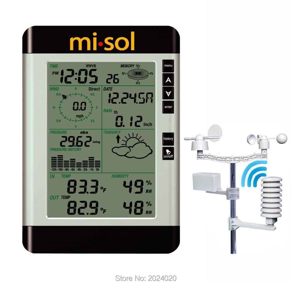 Беспроводная метеостанция с подключением к ПК, прогноз погоды, скорость ветра, дождь