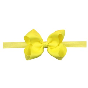 Image 4 - 30 Pcs Colors 4.5 inches Grosgrain Ribbon Baby Girls Hair Bows Headbands for Infants Newborn and Toddlers