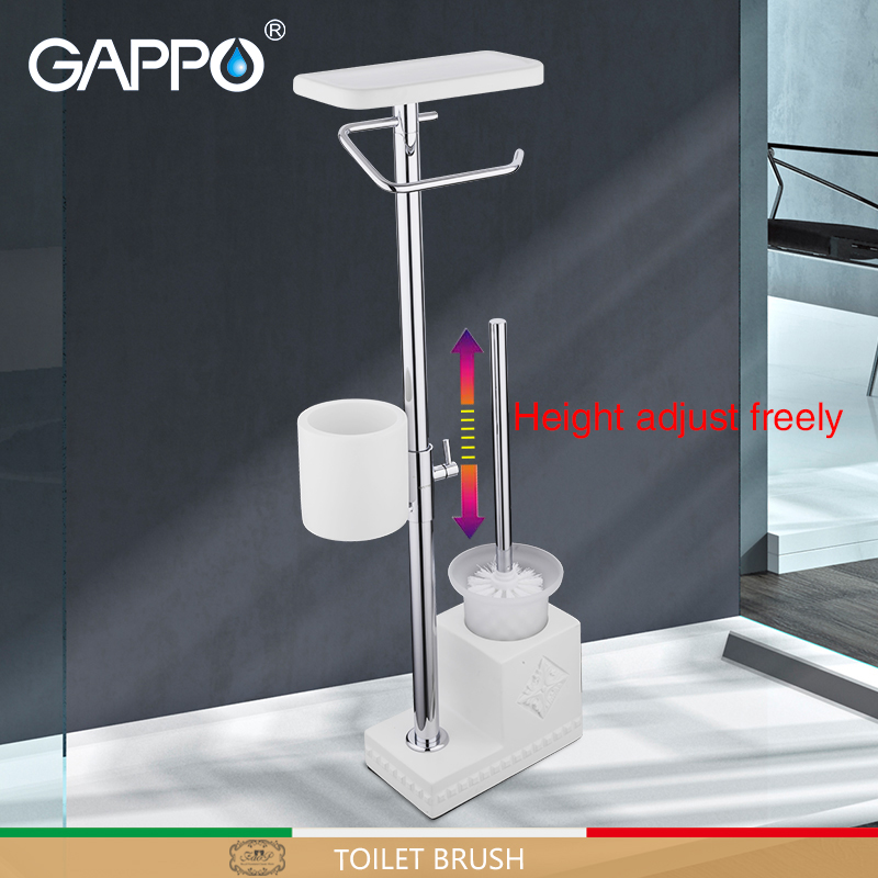 GAPPO toilet brush white bathroom toilet holders free standing accessories brushed bathroom Toilet Brush holder