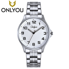 ONLYOU Lovers Watch Business Wristwatches Brand Famous Quartz Clock Stainless Steel Watch For Men And Women Valentine