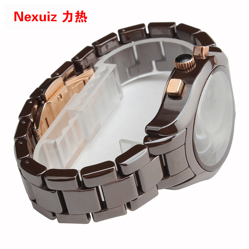 NEW Watchbands,High Quality Ceramic Watchband 18MM Brown Diamond Watch fit AR1447 women  Bracelet  watch accessories new original f155040 printhead print head for epson r250 cx3500 cx4700 cx5900 cx8300 cx9300 cx4100 cx4200 cx4600 cx6900 printer