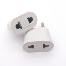 2pcs US USA to EU EURO Europe 4.8MM Pins Travel Power Plug Adapter Charger Converter for USA converter White Coloer