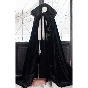 """Image 1 - Đen Wizard Cloak Áo Trang Phục Quần Áo Hàng Đầu Cho 1/4 1/3 24 """"60 cm 70 cm Cao Nam BJD búp bê SD MSD SD17 DK DZ AOD DD Búp Bê sử dụng"""