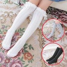 807e4767ec3 Girl Bow Twist Socks 3-12 Years Old Cotton New Summer Korean Long Tube  Princess