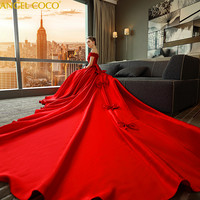 Tribute Silk Maternity Dress Red Tailed Pregnancy Maternity Wedding Dress Satin Plus Size Pregnant Gown Bride Married Clothes