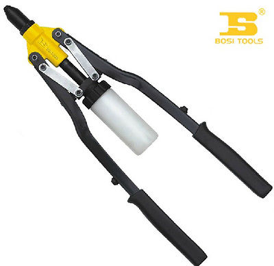 17-Inch Dual Rubber Coated Handle Heavy Duty Hand Riveter  430mm evans b14hdd 14 genera heavy duty dry coated