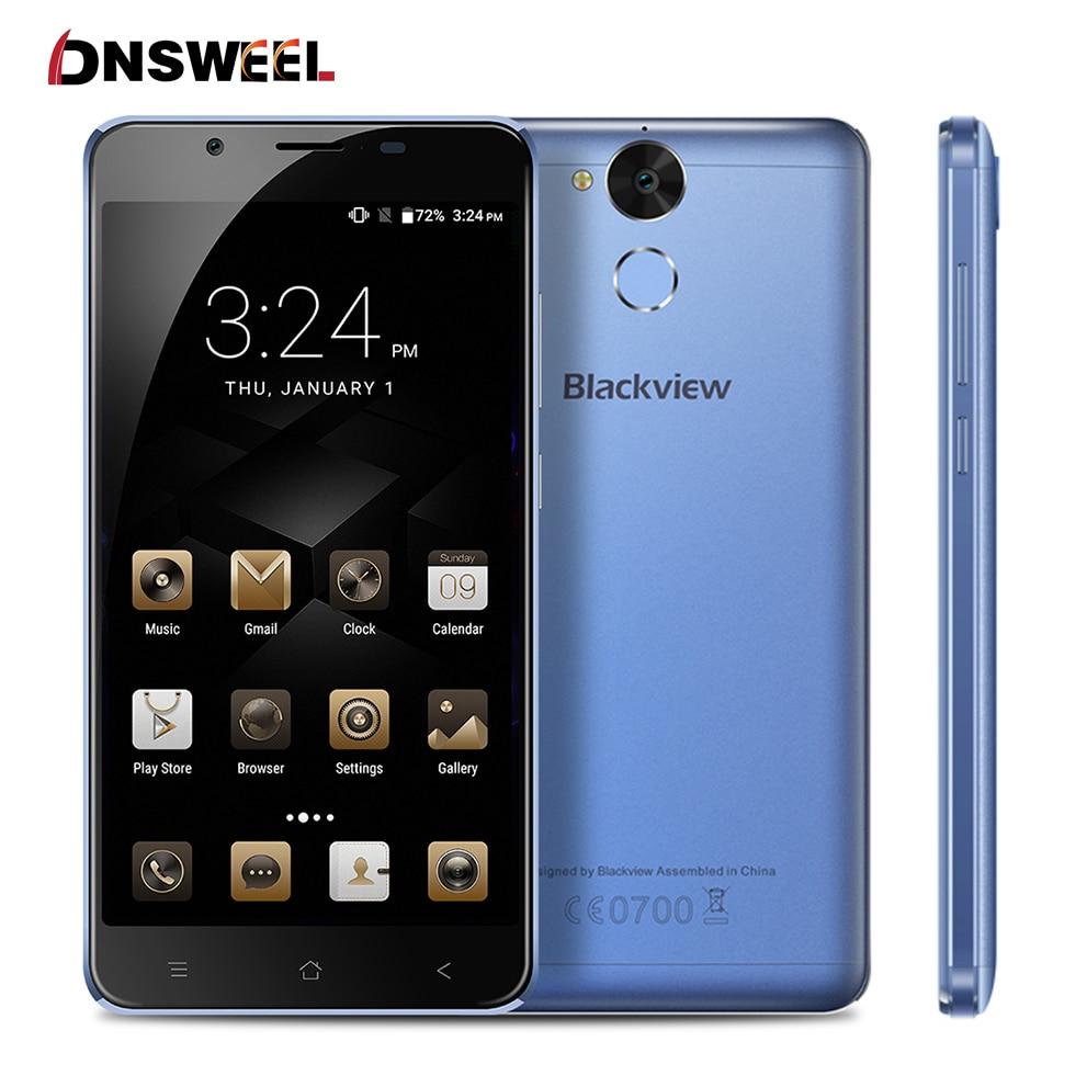 "bilder für Blackview P2 Lite smartphone Android 7.0 3G + 32 GB Handy MT6753 Octa-core 5,5 ""FHD 6000 mAh 13MP + 8MP Fingerabdruck Handy"