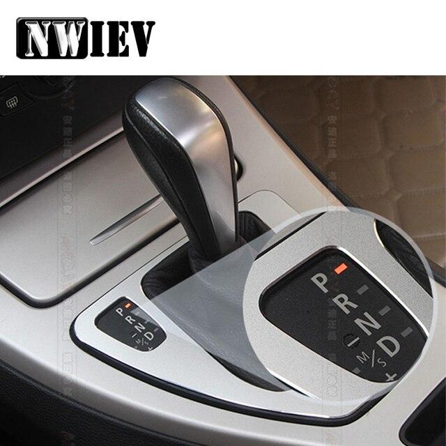 NWIEV Auto Styling Trim Aufkleber Für BMW 3 Serie BMW E90 E91 E92 E93 Center Konsole Getriebe Shift Panel Rahmen deckt Zubehör