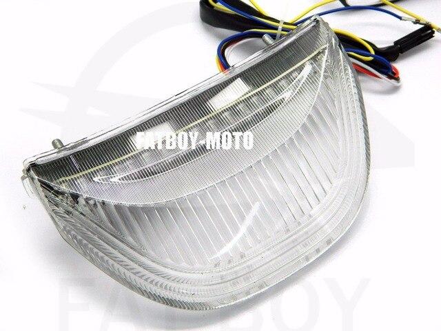 Motocicleta LED integrado de cauda leves sinais de volta para 03 06 HONDA CBR600RR CBR1000RR luz traseira