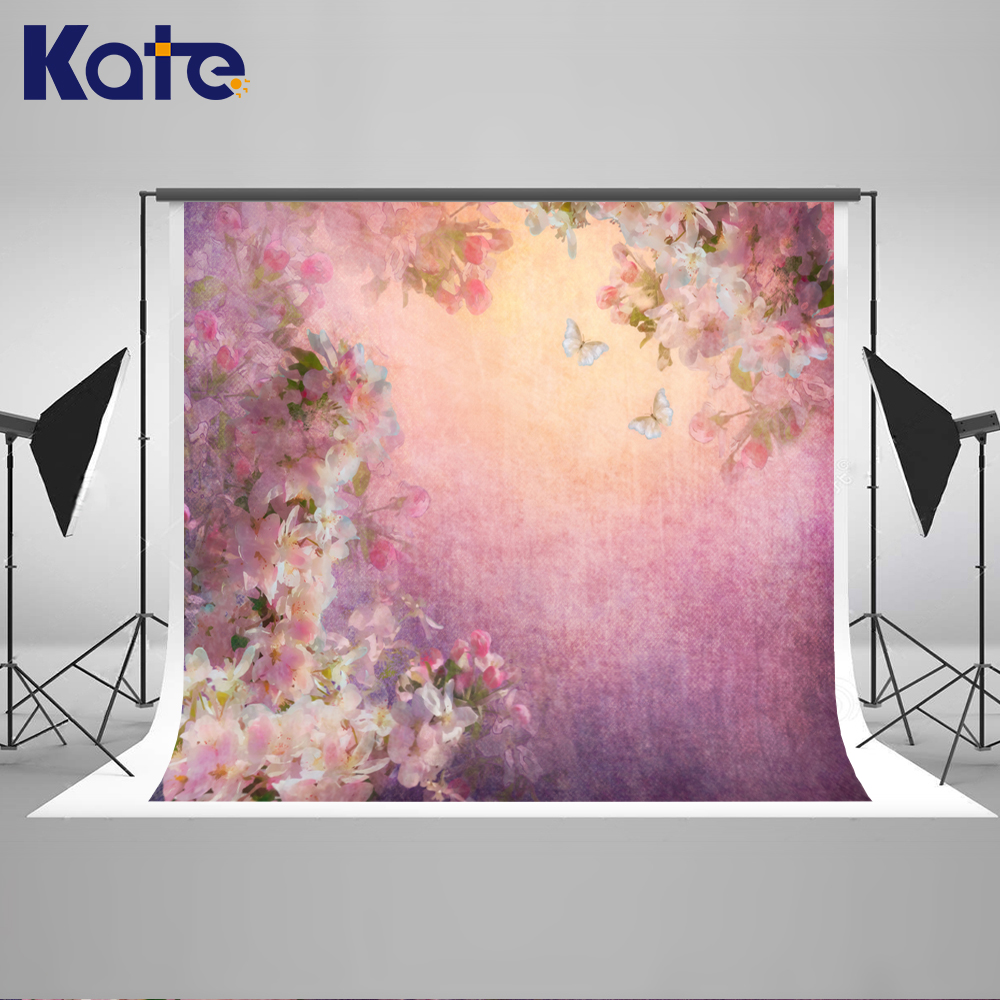 Kate 5x7ft Pink Flower Baby Photography Backdrops New Born Photography Studio Abstract Baby Shower Backdrop Washable Background kate dark blue starry sky baby photography backdrops with cloud studio washable seamless photography background material