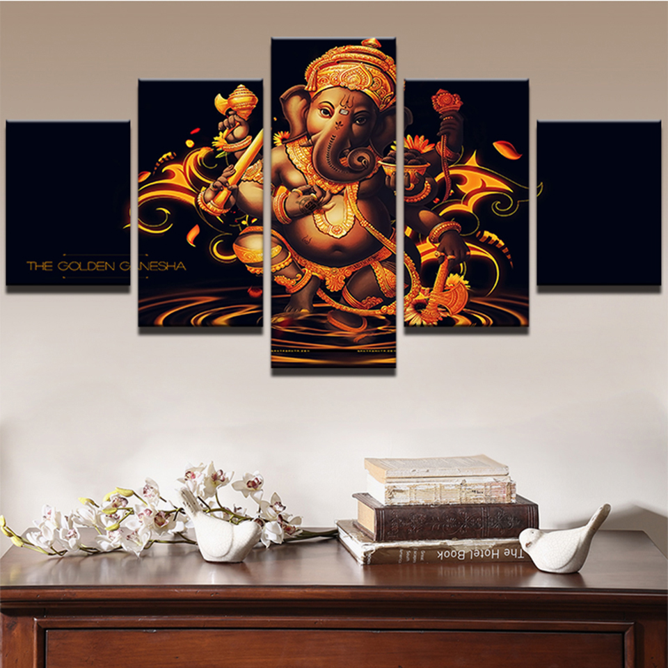 Modular canvas pictures hd prints wall art framework 5 - Wall pictures for living room india ...