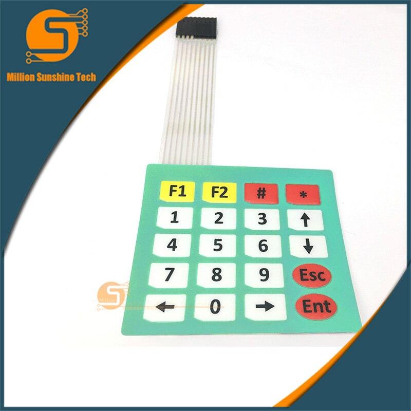 Lastest 4pcs/lot 4x5 Matrix Array 20 Key Membrane Switch Keypad Control Panel Microprocessor Keyboard Controller For Arduino 5*4