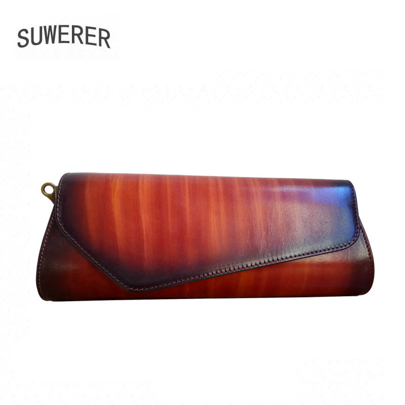 SUWERER Genuine Leather women bags for women 2018 new luxury handbags women bags designer clutch bag Shoulder Bag genuine leather women bags for women 2018 new luxury handbags women bags designer clutch bag fashion stitching