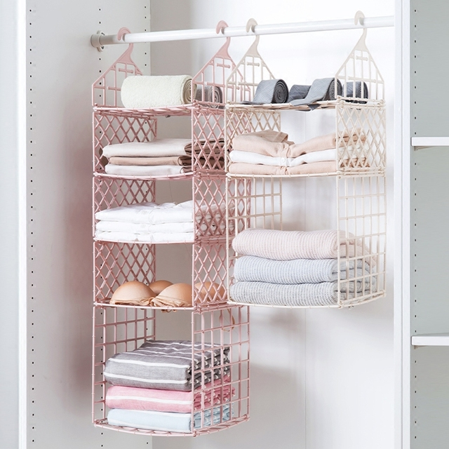 Folding Rack Wardrobe Shelves Bathroom Storage Holder Multi Layer Clothing Shoes Bags Organizer Bedroom Clothes