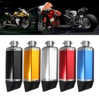 38 51mm Universal Motorcycle Exhaust Muffler Pipe Escape With DB killer Silencer Double Air Outlet for Honda Yamaha Kawasaki