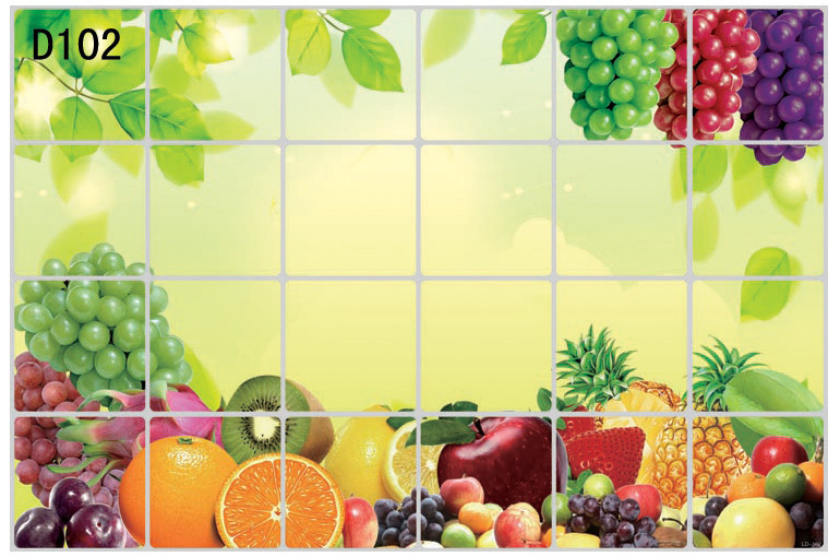kitchen tiles with fruit design.  1 pc 6 Kinds fruit Waterproof Aluminum Foil Diy High Kitchen Oil Lampblack Ceramic Tile wallpaper Wall Sticker 60 90cm 4q east in Stickers from Home