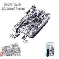 Piececool BMPT Tank 3D Laser Cut Metal Puzzle DIY 3D Assembly Jigsaw Model Military 3D Nano