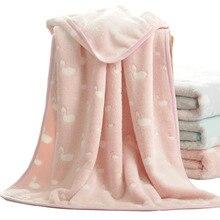 3D grain fluffy soft coral Swan animal winter thick baby blanket kids back seat cover deken toddler bedding quilt