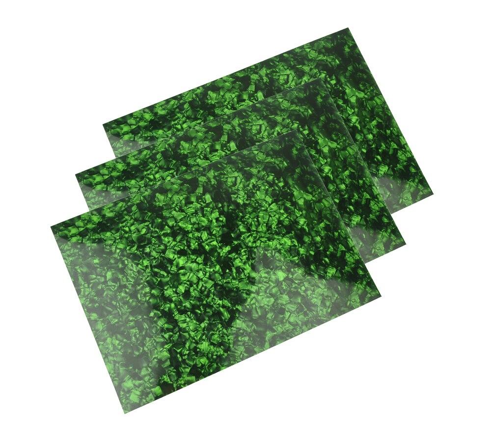 3 шт. A4 Размеры 0,46 мм жемчуг зеленый лист Целлулоида 210x297 мм для Палочки гвардии вставками пользовательских гитара палочки Luthier