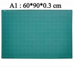Alfombrilla de corte autocurativa de Pvc con rejilla A1, alfombrilla de corte para herramientas de remiendos verde oscuro, 60x90cm