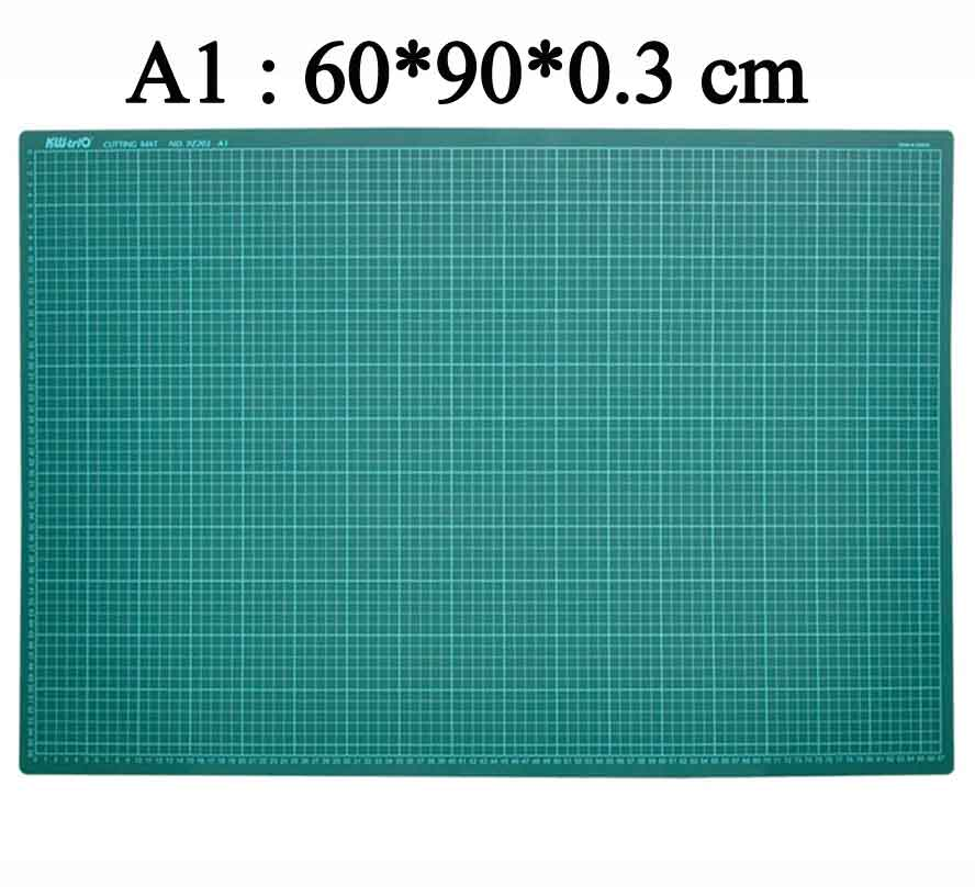 Pvc Self Healing Cutting Mat with grid A1 Craft Dark Green Patchwork tools Cutting pad 60*90cm top quality pvc rectangle self healing cutting mat tool non slip craft quilting printed professional double sided cutting mat