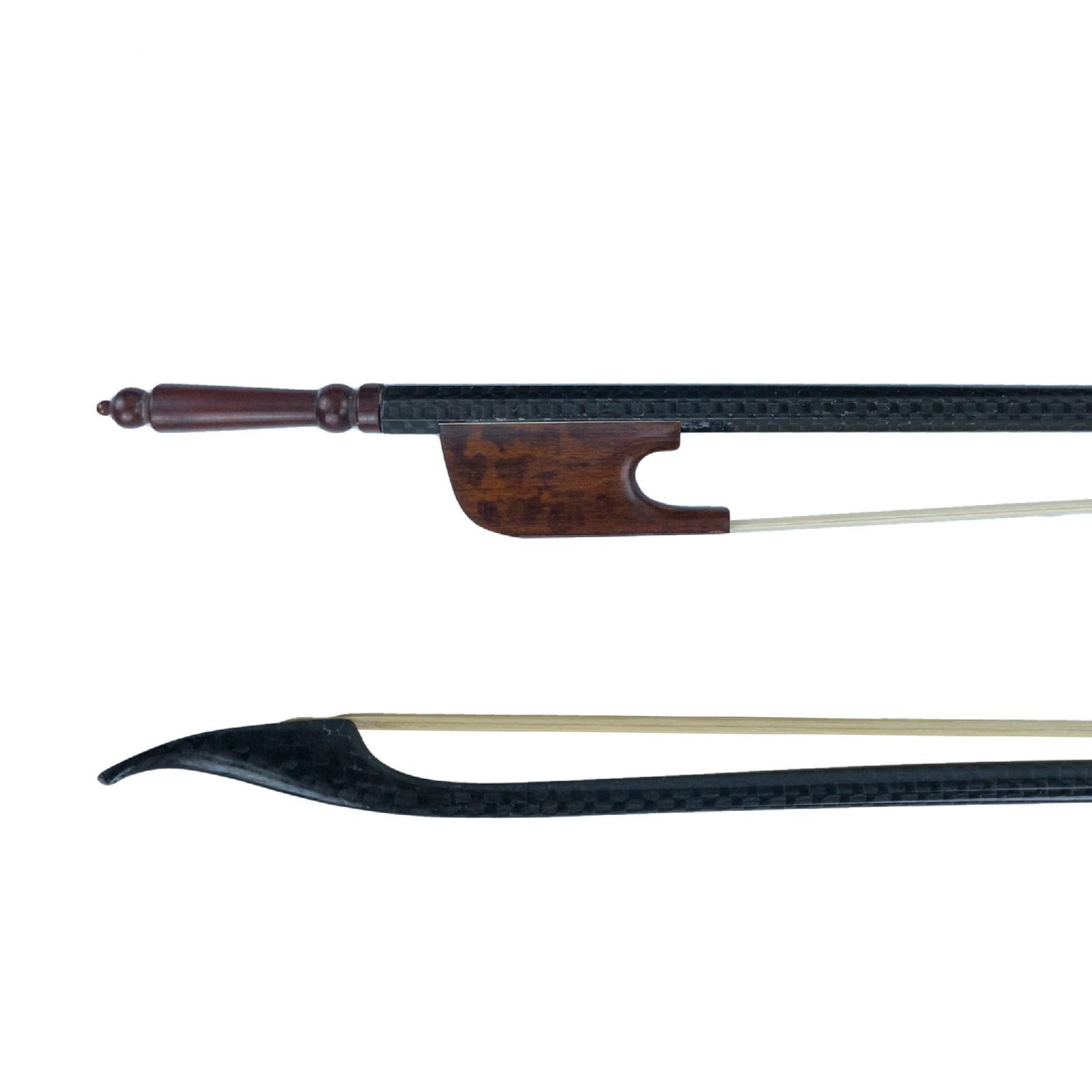 4/4 Carbon Fiber Bow Baroque Bow Real Mongolia Horse Hair Snake Wood Frog Violin Accessories-in Violin Parts & Accessories from Sports & Entertainment    1