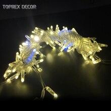32.8ft warm weiß mit blinkende LED string weihnachten lichter außen lichterkette hochzeit dekoration party lichter