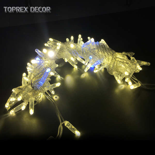 32.8ft warm white with flashing LED string christmas lights outdoor fairy lights wedding decoration party lights
