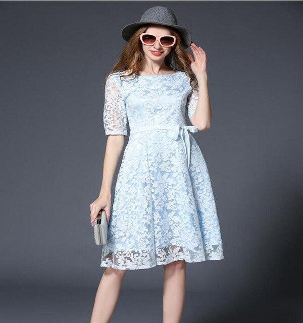 Европейский американский популярный высокого класса женская элегантный sexy кружева повседневная dress шею линии пром dress высокое качество