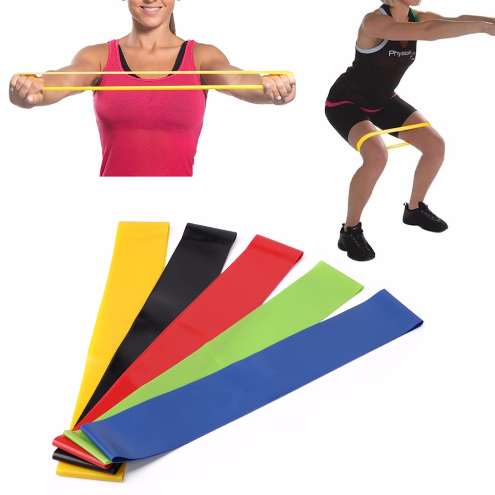 Set Of 5 Latex Resistance Loop Exercise Yoga Bands Workout