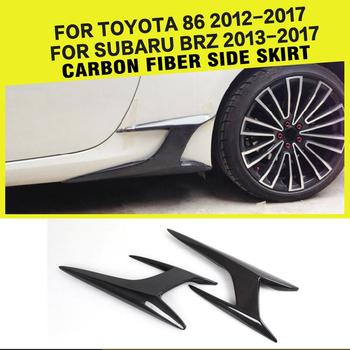 Car-Styling Carbon Fiber Side Body Skirts Splitters Kits for Toyota GT86 & Subaru BRZ 2013 - 2017 image
