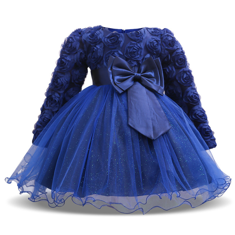 Baby Girl Toddler Princess Pageant Party Tutu Lace Bow Flower Dresses Elegant Baby Girls Clothes Infant Kids Clothing For 6-24M 2017 fashion summer hot sales kid girls princess dress toddler baby party tutu lace bow flower dresses fashion vestido
