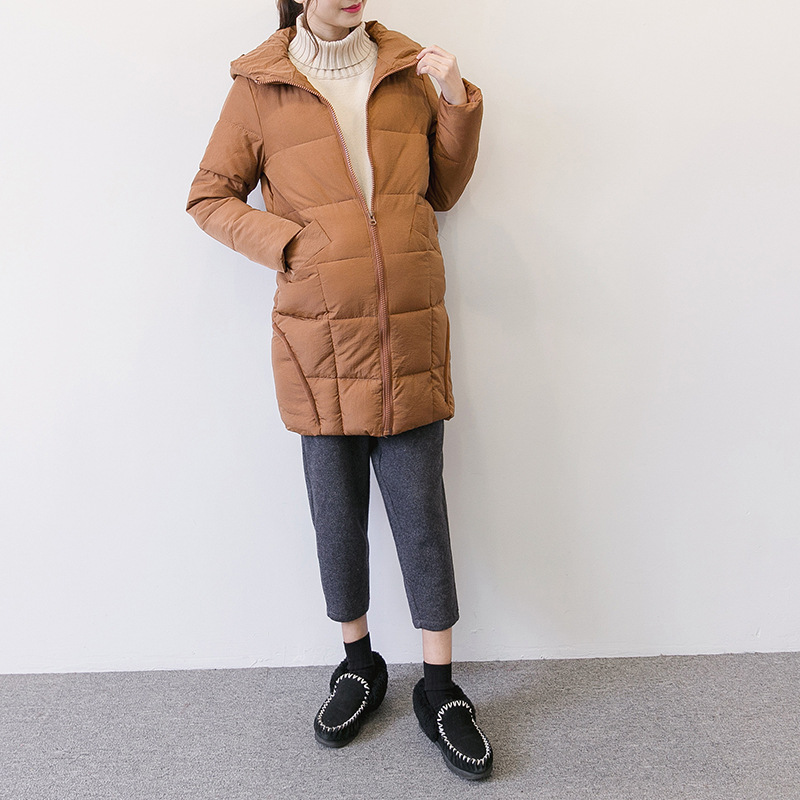 Spring Winter Maternity Cotton Jacket Hooded Warm Parka Down Cotton Padded For Pregnant Women Coat Y877 kulazopper large size women s winter hooded cotton coat 2018 new fashion down cotton padded jacket long female warm parka yl041