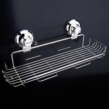 Basket Storage Rack Space stainless steel Basket Shelf Wall Mounted Single Tier Bathroom Kitchen Rack
