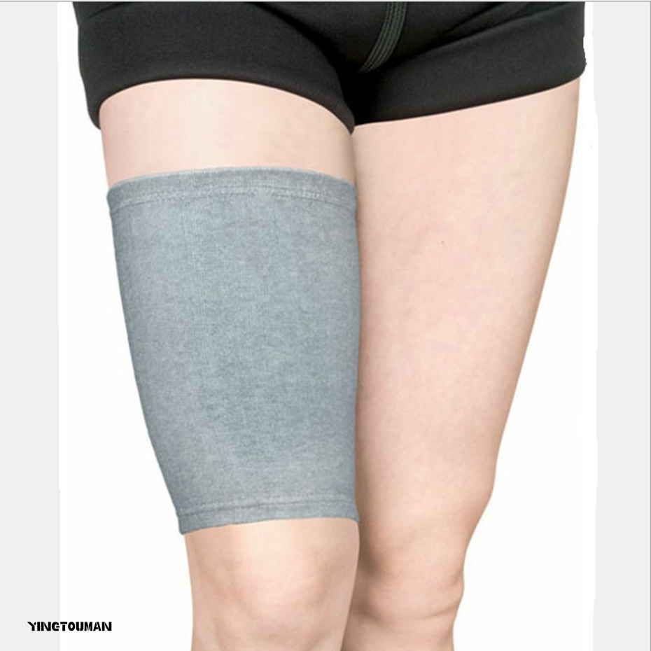 YINGTOUMAN 2pcs/lot Bamboo Charcoal Fabric Knee Support Brace Sports Safety Leg Warmer Thigh Protector