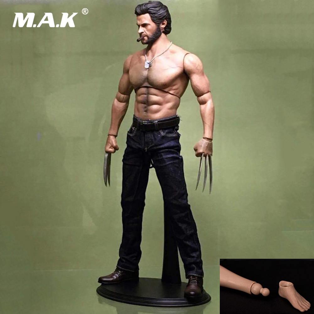 1:6 Scale Muscle Male Figure Body Wolverine Logan Male Figure Body Wide Shoulder 31CM fit 1/6 Man Head mak custom 1 6 scale hugh jackman head sculpt wolverine male headplay model fit 12kumik body figures