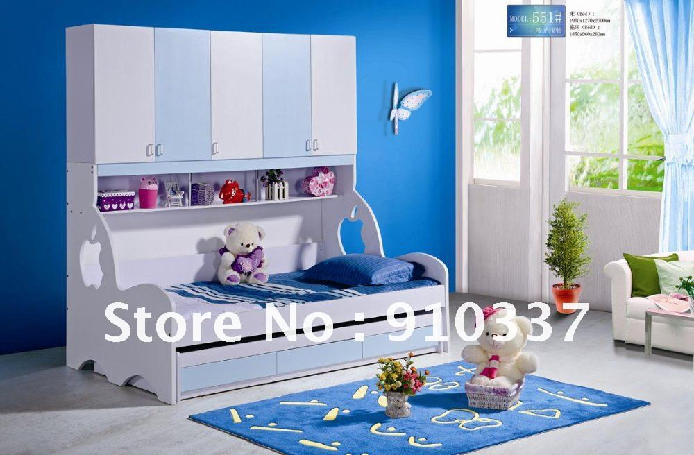 MDF Panels Kids Bed Twin Full Bunk Bed With Underbed Storage Drawer In Children Beds From