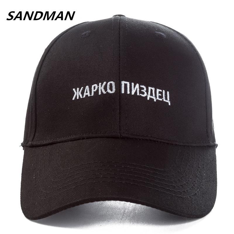SANDMAN Brand Russian Letter Very Hot Snapback Cap Cotton Baseball Cap For Men Women Hip Hop Dad Hat Bone Garros