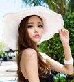 Envío Libre 2016 Caliente Nueva Señora de la Mujer de Ala Ancha de Lana de fieltro Bowler Hat Fedora Floppy Sun Beach sombreros de verano para mujeres