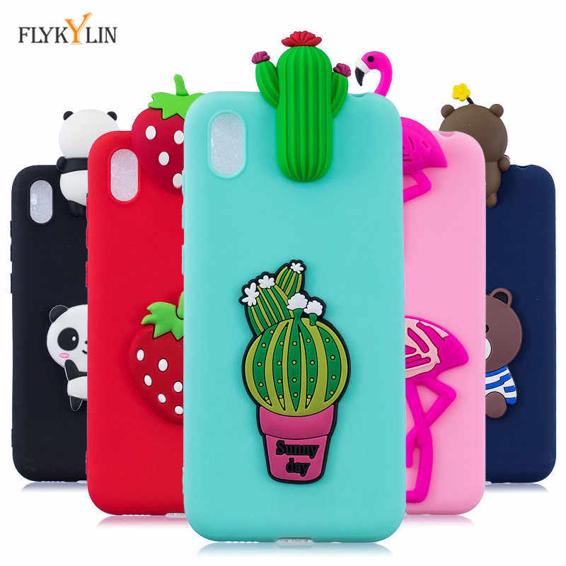 (Y5 2019) Silicone Cases on sfor Huawei Y5 2019 Cover For Coque Huawei Honor 8S 8 S 3D Flamingo Panda Soft TPU Capa Back Cover