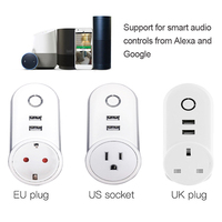 2 USB Ports 1 Socket WiFi Smart Power Plug Socket Compatible With Alexa And Google Home