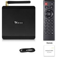 Tx5 Max 4Gb Ddr4 Ram 32Gb Rom Smart Tv Box Android 8.1 Amlogic S905X2 4K Media Player Quad Core 1000M 2.4G&5G Dual Wifi(Us Plu x96 max android 8 1 amlogic s905x2 lpddr 4 4g 64g tv box quad core 2 4g5g dual wifi bt4 x 1000m h 265 4k 60pfs media player