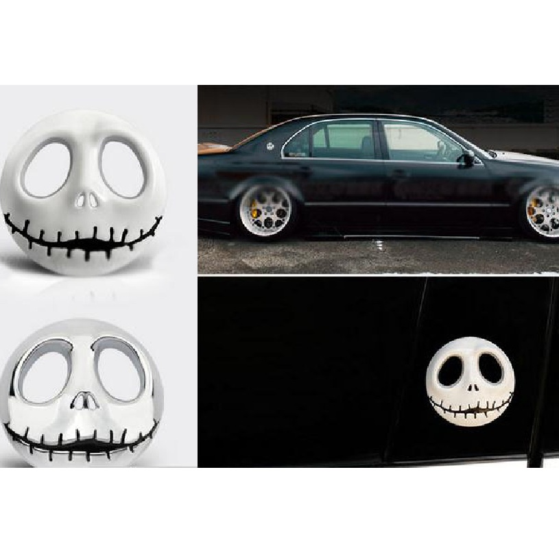 Halloween Gift 3D Skull Car Sticker Metal Ghost for Harley Davidson motorcycle Auto Moto Sticker Car-Styling for KIA Chevrolet
