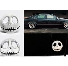 Presente do dia das bruxas 3d crânio carro adesivo de metal fantasma para harley davidson moto rcycle auto moto etiqueta do carro estilo para chevrolet kia